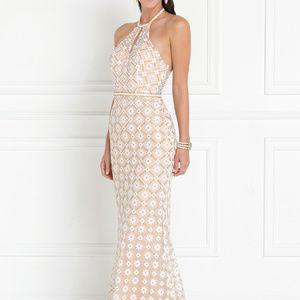 Halter Neckline Long Mermaid Prom Dress GSGL2087